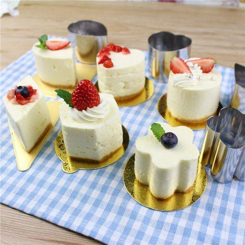 2寸蛋糕模具迷你小号慕斯圈提拉米苏饼干切不锈钢心形