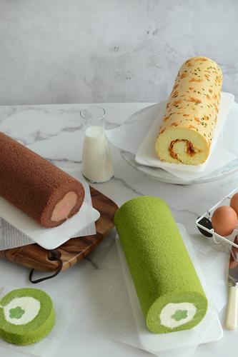 下厨房线上课:卷不裂棉花奶冻蛋糕卷&咸香肉松蛋糕卷
