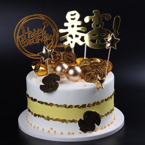 蛋糕模型仿真双层烘培店展示创意摆设摆件生日蛋糕