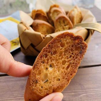 法式烤面包干酥脆椰香蒜香 办公室下午茶甜品零食小吃