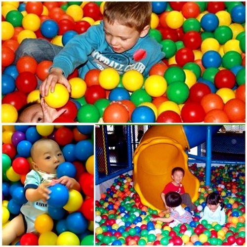 彩色海洋球波波球儿童海洋球池围栏投篮室内彩色球玩具球加厚