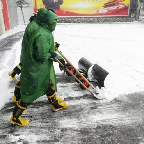 叉车除雪铲养殖场车轮式手推推雪板特大号地面设备铲雪神器抛雪机