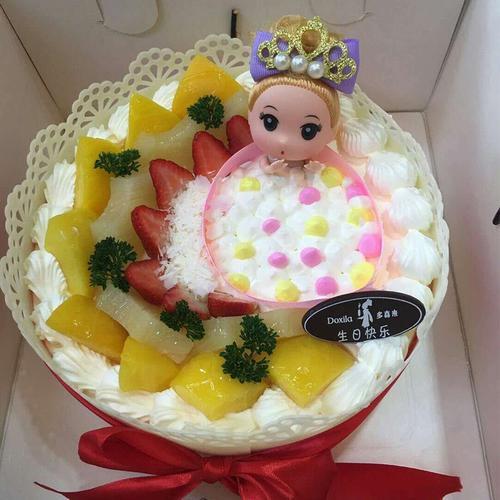 【水果芭比大约8英寸生日蛋糕*1盒】多喜来社区团购(宜春))