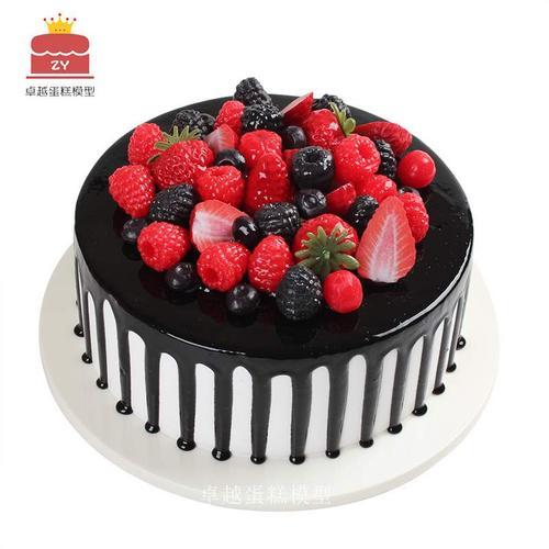 蛋糕模型2021新款网红水果生日假蛋糕模型橱窗摆设样品可定制