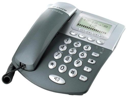 法国原单正品办公电话机家用商务座机来电显示免电池