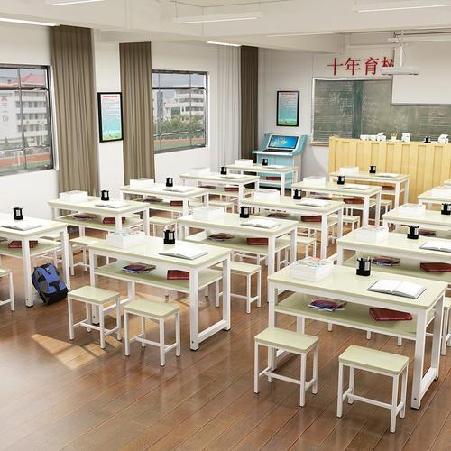 培训辅导班中小学生课桌椅单双人活动桌椅组合书桌