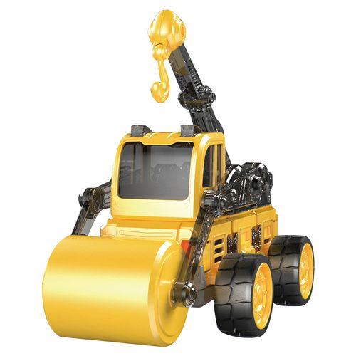 蛋宝乐磁力片拼装遥控车儿童玩具工程车推土机男孩