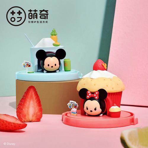 迪士尼手办甜品屋盲盒松松tsum摆件蛋糕系列卡通迷你