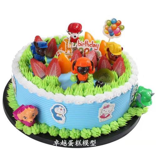 模型创意2020汪汪 模型卡通蛋糕队玩具儿童生日模型