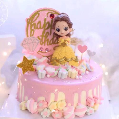 【贝儿公主】卡通动画蛋糕鲜果水果夹心蛋糕