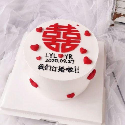 结婚蛋糕装饰摆件古典中式新娘新郎订婚红喜字蛋糕