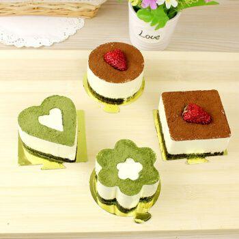 不锈钢慕斯模具提拉米苏芝士蛋糕心圆方形饼干烘焙模具 方形 小慕斯圈