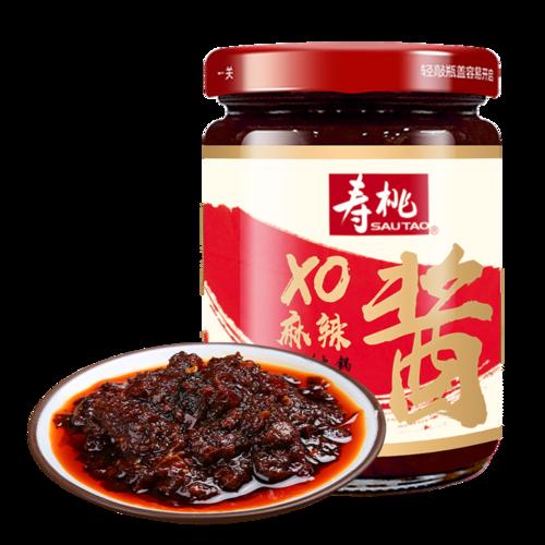 寿桃牌xo麻辣酱200g 下饭酱火锅蘸料车仔面乌冬面虾子