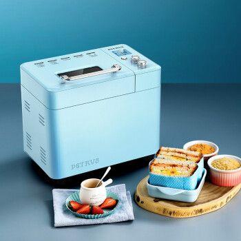 柏翠(petrus)面包机家用全自动撒果料多功能和面机吐司机冰淇淋静音pe