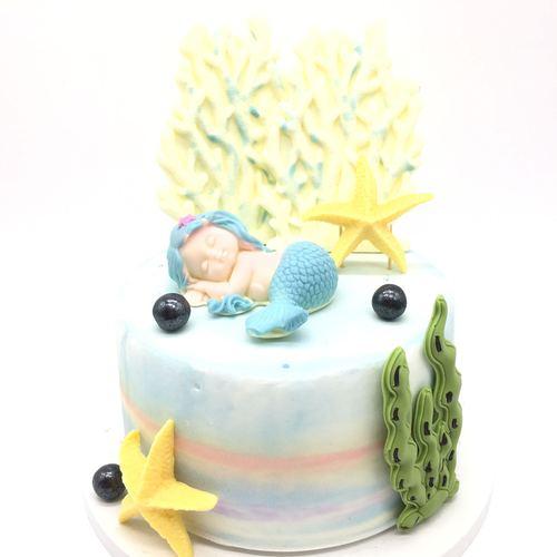 烘焙西点蛋糕装饰片立体巧克力片睡美人宝宝卡通巧克力装饰插牌