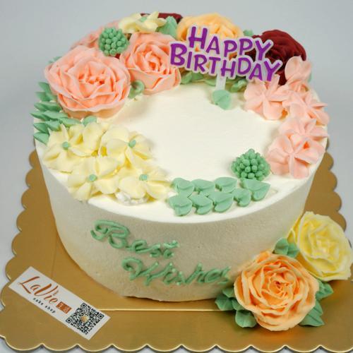 韩系花朵蛋糕(图片为6寸效果)