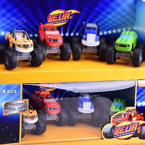 旋风战车队飚速火焰机器玩具消防怪兽车合金巴士小