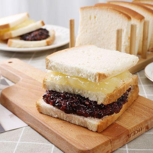 现做现发紫米面包2200/550g黑米夹心手撕吐司蛋糕点心