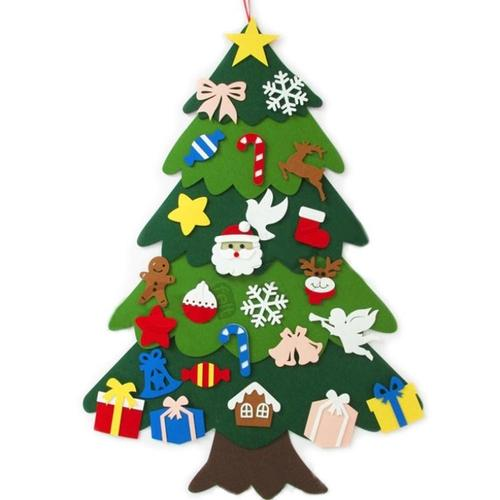 可以挂在墙上的圣诞树diy折叠圣诞节五拼酒吧玻璃收纳