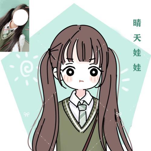 【玲珑安】q版人物卡通情侣漫画头像定制照片手绘简笔
