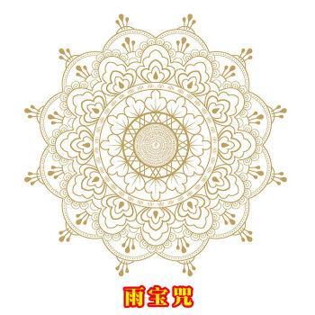 生命之花能量贴玻璃咒轮贴纸佛教寺庙用品窗花家居无胶静电不掉色