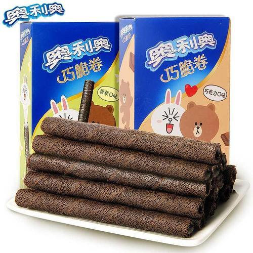 亿滋巧脆卷55g*6香草巧克力味夹心饼干办公室休闲零食