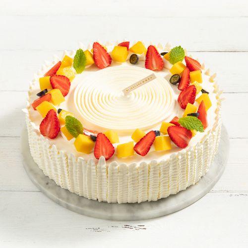 【荆门新品蛋糕 2磅 】花漾心语 缤纷果味清新甜蜜 丝