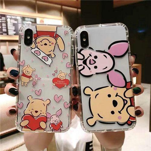 卡通维尼熊苹果xsmax新款se-11pro手机壳iphone7plus