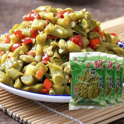 500g*5包酸豆角小包装商用农家自制酸菜咸菜泡菜洪湖南酸豇豆袋装
