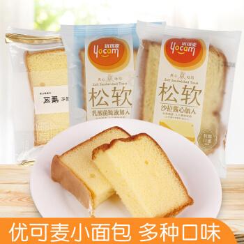 优可麦鲜软面包沙拉酱心吐司乳酪面包散称500g早餐面包零食整箱 芒果