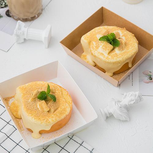 50套网红奶盖蛋糕卷包装盒豆乳千层雪梅娘毛巾卷泡芙