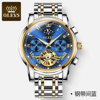 瑞士2021新款世界十大名表品牌排行男士手表全自动机械表镂空 钢带金