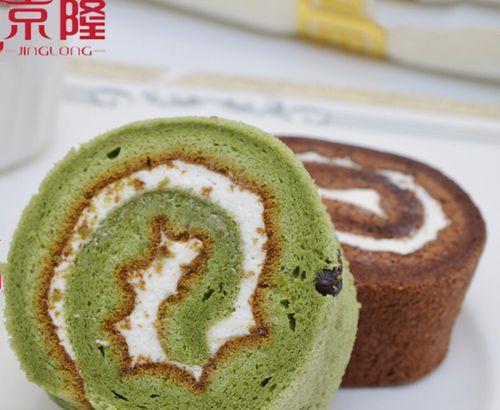 京隆抹茶奶油蛋糕卷巧克力味迷你小蛋糕手撕面包甜品速食零食小吃