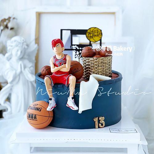 灌篮高手蛋糕装饰摆件樱木花道流川枫男士篮球主题