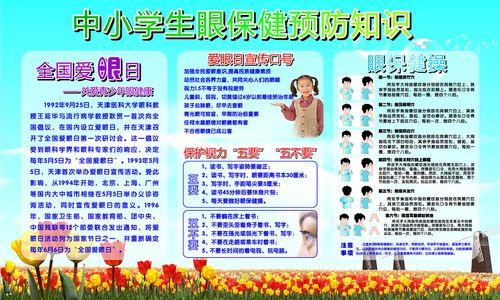 622薄膜贴画海报展板素材50中小学生眼保健操预防知识