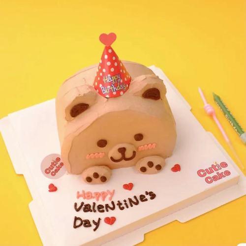 烘焙蛋糕装饰韩式ins创意小熊复古迷你生日小帽子插件