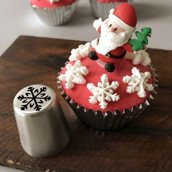 杰凯诺 俄罗斯裱花嘴圣诞节糖霜饼干不锈钢溶豆烘焙工具雪花圣诞树