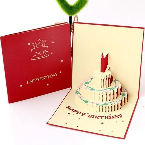 立体生日贺卡3d纸雕定制手工生日礼物女生闺蜜创意卡片ins带信封