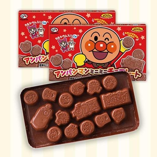 不二家面包超人奶油巧克力低糖日本进口零食卡通造型儿童护齿食玩