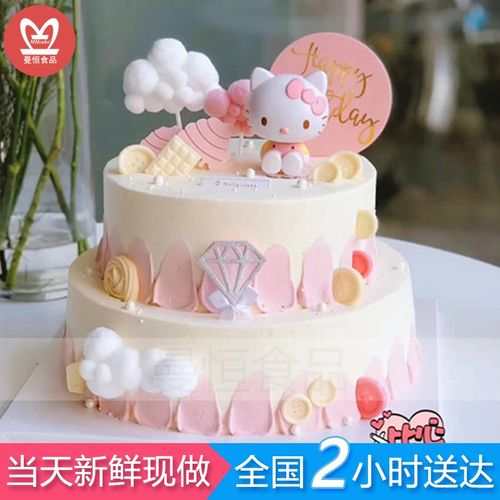 儿童生日蛋糕全国同城配送当日送达男孩女孩生日礼物.