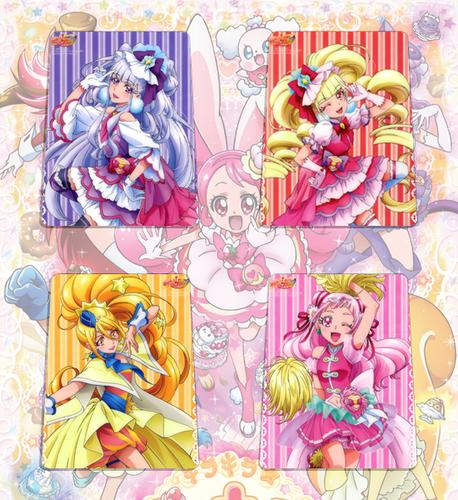 魔法使光之美少女动漫卡片20张人物角色