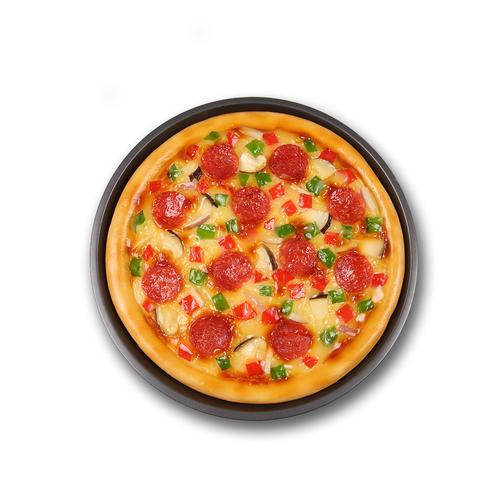 新品仿真萨拉米肠披萨食品食物模型 西餐假菜肴展示