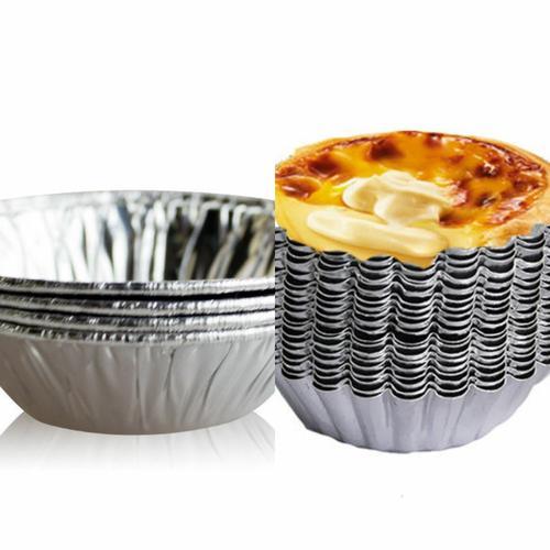 可重复/锡纸-蛋挞蛋糕果冻模具蛋挞皮烘焙菊花铝制一次性底托圆形