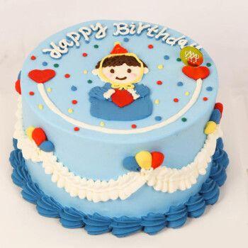 生日网红创意上海南京儿童皇冠定制 【经典】男孩蛋糕 6英寸(适合1-2