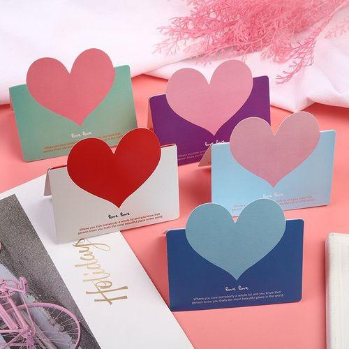 韩国创意爱心生日贺卡纸祝福感恩diy留言母亲节小卡片