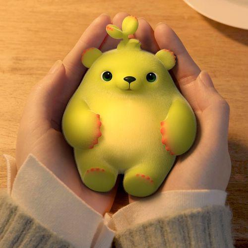 萌芽熊正版回弹解压玩具盲盒捏捏乐玩具趣味手办可爱
