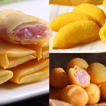 阿诺香芋派香芋地瓜丸脆皮香蕉冷冻食品油炸甜点小吃