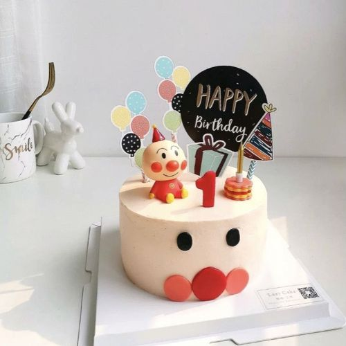 61儿童生日面包超人蛋糕装饰软陶公仔人偶摆件蛋糕