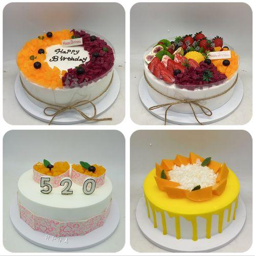 蛋糕模型网红水果流行欧式奶油淋面巧克力无花果生日