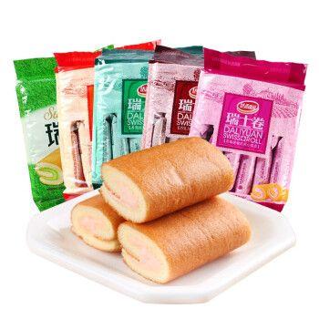 达利园瑞士卷240g*2包早餐面包下午茶糕点蛋糕休闲零食点心小吃 随机